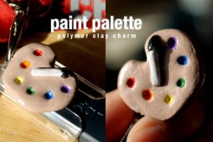 Polymer Clay Paint Palette by MsPastel