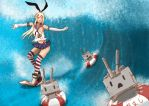 Shimakaze - The Destroyer - Kancolle by bpanthersg