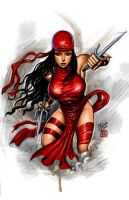 Elektra colored by johnbecaro