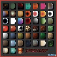 44 MATERIALS FOR ZBRUSH (PACK MAPCAP EFFECTS) by HardPokers