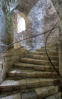 Dover Castle 13 - Stairs by AlexanderHuebner