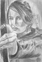 Katniss ACEO by BethannNg