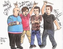 Signed Bowling For Soup drawing by MelyssaThePunkRocker