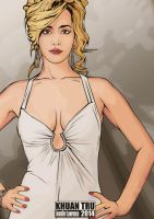 Jennifer Lawrence fan art 2014 1 by KHUANTRU