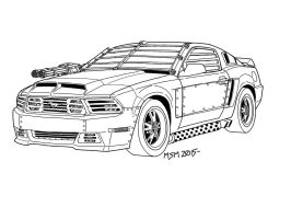 Post-Apocalyptic Ford Mustang First Stage by RedSpider2008