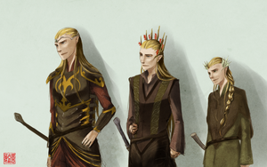 the mirkwood family ba da da dum snap snap. by tueri