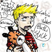 Calvin and Hobbes-my style by Nintendogal