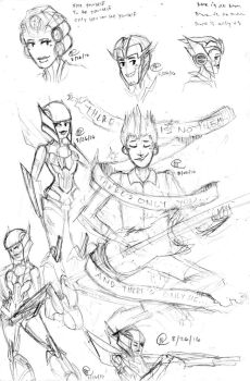 OC Sketch Dump by a-paranoid-android