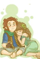 Bilbo and Kaite by GaluSs
