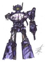 Transformers G1 Shockwave (battle damage) by LawlietRiverRose