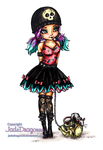 Gothic Lolita -Colored by JadeDragonne