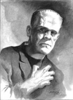 the Frankenstein monster by PaulAbrams