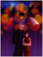 As we left the Rain by AngelJasiel