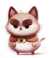 Daily Paint 683. Puppycat by Cryptid-Creations