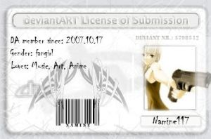 Namines license of submission by Plushine