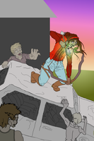 Zombie Fighting WIP by Flautist4ever