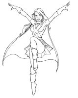 Miss Martian - YJ lineart by JosephB222