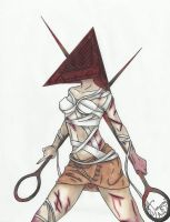 A female fan fiction of Pyramid Head by Josumi-kun