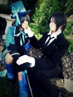 Ciel and Sebastian by untitledxme