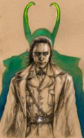 Loki in uniform by MadLittleClown