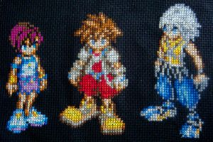 Kingdom Hearts Cross Stitch by pixel8bit