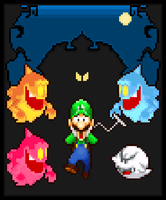 Luigi's Mansion Pixel Art by AnonymousLemons