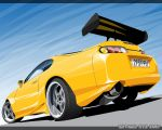 Toyota Supra Vector by dr-phoenix