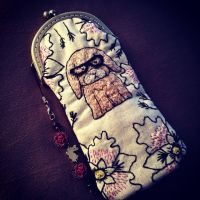 Hipster Bunny Pencil Pouch by inkpensandneedles
