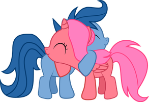 Blooming Archer - Foalsized Pony Hug by Creshosk