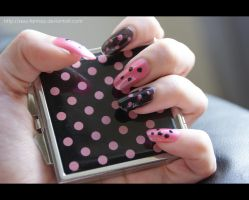 Black and Pink Polka Dots by DoncellaSuicide