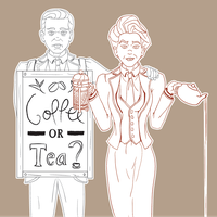 The Luteces - Coffee Or Tea? (Tan) by cyberogue