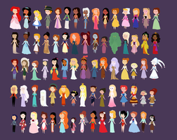 Animated Heroines by SummersWorld