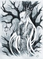 Winter in Mirkwood by Candra