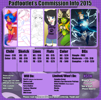 Commission Sheet 2015 by padfootlet
