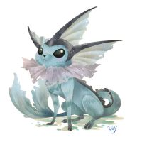Vaporeon by Roy-Flowers
