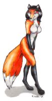 She's Quite the Sassy Vixen by roverpup
