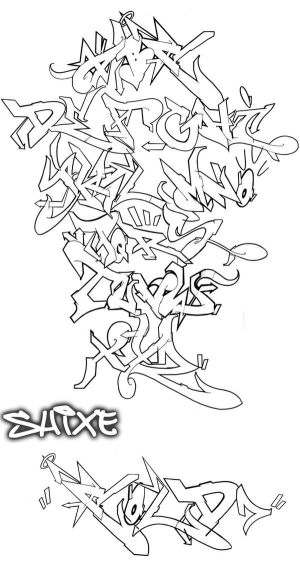 graffiti alphabet 3d