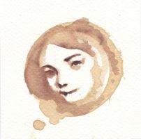 Coffee stain portrait by Evening-sky