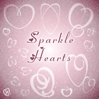 Sparkle Hearts by brithla