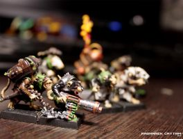 Skaven - machine-gun crew by RagnareK