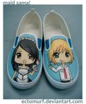 Maid Sama Custom Kicks by ectomurf