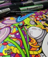 SPACECITY! - coloring time by ELECTRICPOPPERS