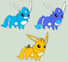 Eevee Dragon Adoptables [Closed] by ReinFalling