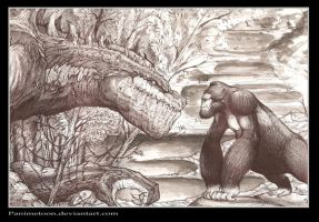 king kong vs godzilla by panimetoon