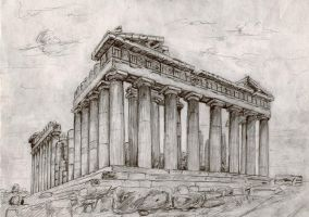 The Parthenon Temple by Adrian87