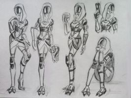 sketches Tali (67) by spaceMAXmarine