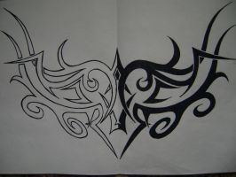 my art tribal ornament tattoo drawing by tranceunited