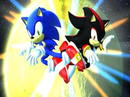 Sonic Generations: Sonic V.S. Shadow by ShadowTheHedgehogX13