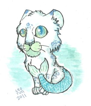 Sea leopard drawing ...again by Leoyun