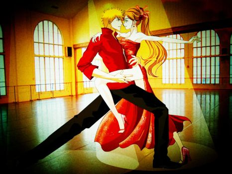 Let's Dance Ichigo and Orihime by lovetobeone